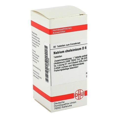 NATRIUM CHOLEINICUM D 6 Tabletten 80 Stück N1