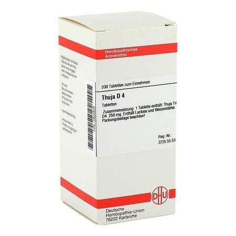 THUJA D 4 Tabletten 200 St�ck N2
