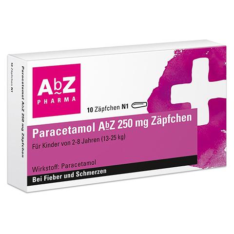 Paracetamol AbZ 250mg 10 Stück N1
