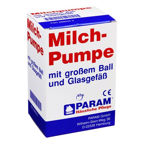MILCHPUMPE Glas+großer Ball 1 Stück