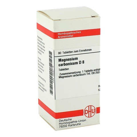 MAGNESIUM CARBONICUM D 8 Tabletten 80 St�ck N1