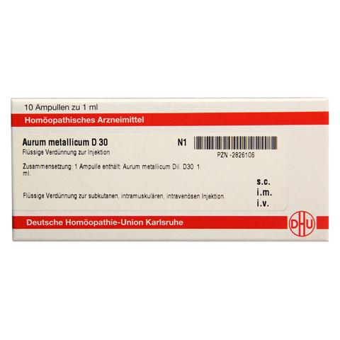 AURUM METALLICUM D 30 Ampullen 10x1 Milliliter N1