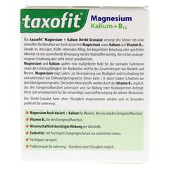 TAXOFIT Magnesium+Kalium+B12 Direkt-Granulat 20 Stück - Rückseite