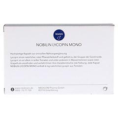 NOBILIN Lycopin Mono Kapseln 60 Stück - Rückseite