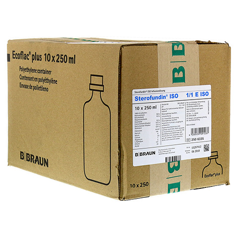 STEROFUNDIN ISO Ecoflac Plus Infusionslösung 10x250 Milliliter N2
