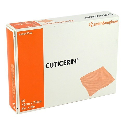 CUTICERIN 7,5x7,5 cm Gaze m.Salbenbeschichtung 50 St�ck