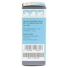 APOPET Sch��ler-Salz Nr.11 Silicea D 12 Glob.vet. 12 Gramm - Linke Seite