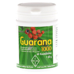 GUARANA 1000 mg Kautabletten 60 St�ck