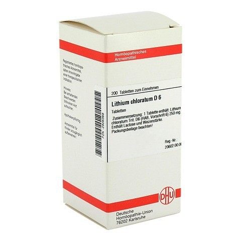 LITHIUM CHLORATUM D 6 Tabletten 200 St�ck