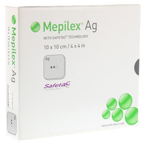 MEPILEX Ag Schaumverband 10x10 cm steril 5 Stück
