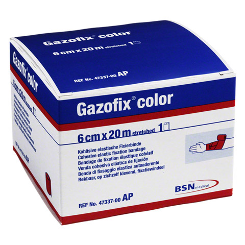 GAZOFIX color Fixierbinde 6 cmx20 m pink 1 Stück