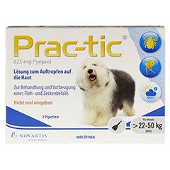 PRAC tic f.große Hunde 22-50 kg Einzeldosispip. 3 Stück - Vorderseite