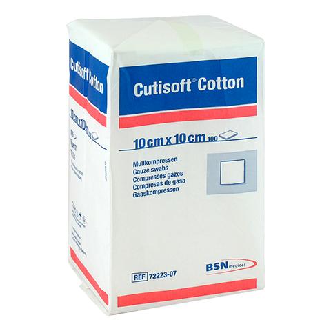 CUTISOFT Cotton Kompr.10x10 cm unster.12fach 100 St�ck