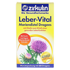 ZIRKULIN Leber-Vital Mariendistel Dragees 60 St�ck - Vorderseite