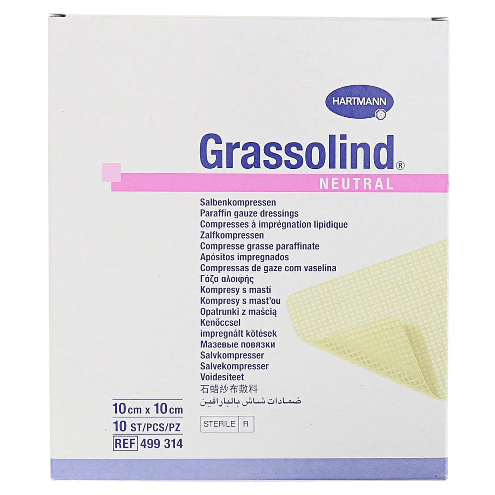 GRASSOLIND Salbenkompressen 10x10 cm steril 10 Stück