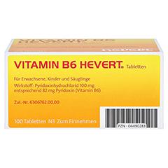 VITAMIN B6 Hevert Tabletten 100 Stück N3 - Unterseite