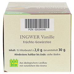 INGWER VANILLE Tee Bio Salus Filterbeutel 15 Stück - Oberseite