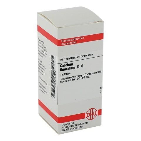 CALCIUM FLUORATUM D 6 Tabletten 80 Stück N1