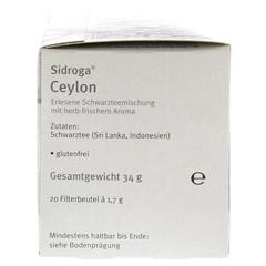 SIDROGA Wellness Ceylon Tee Filterbeutel 20 Stück - Rechte Seite