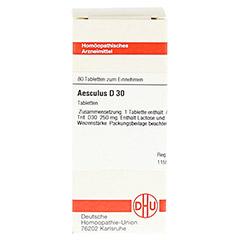 AESCULUS D 30 Tabletten 80 Stück - Vorderseite