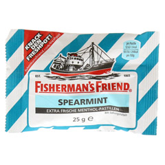 FISHERMANS FRIEND Spearmint ohne Zucker Pastillen 25 Gramm