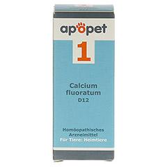 APOPET Schüßler-Salz Nr.1 Calcium fluor.D 12 vet. 12 Gramm - Vorderseite