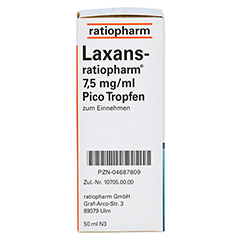 Laxans-ratiopharm 7,5mg/ml Pico 50 Milliliter N3 - Rechte Seite