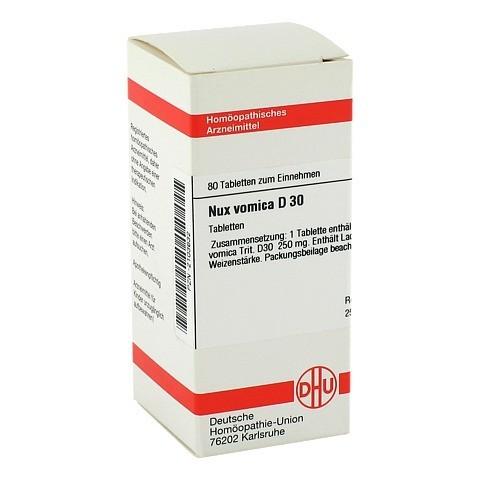 NUX VOMICA D 30 Tabletten 80 St�ck