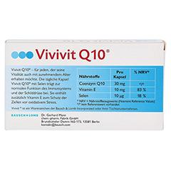 VIVIVIT Q10 Kapseln 30 Stück - Rückseite