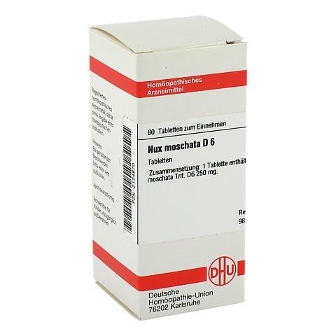 NUX MOSCHATA D 6 Tabletten 80 St�ck N1