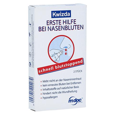 KWIZDA Erste Hilfe bei Nasenbluten Nasenstöpsel 2 Stück