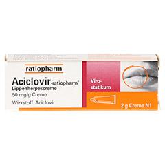 Aciclovir-ratiopharm Lippenherpescreme 2 Gramm N1 - Vorderseite