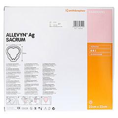 ALLEVYN Ag Sacrum 22x22 cm Wundverband 10 Stück - Rückseite