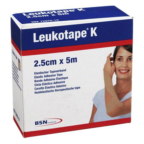 LEUKOTAPE K 2,5 cm hautfarben 1 Stück