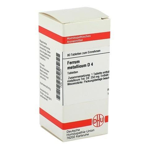 FERRUM METALLICUM D 4 Tabletten 80 St�ck N1