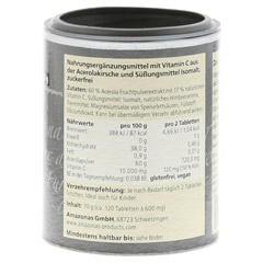 ACEROLA 100% natürliches Vitamin C Lutschtabletten 120 Stück - Rechte Seite