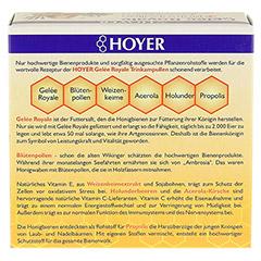 HOYER Gelee Royale+Blütenpollen+Weizenk.Trinkamp. 10x10 Milliliter - Rückseite
