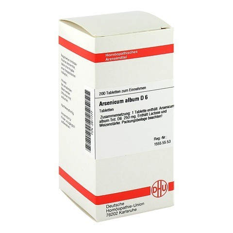 ARSENICUM ALBUM D 6 Tabletten 200 St�ck N2