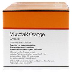 Mucofalk Orange Beutel 100 Stück - Linke Seite