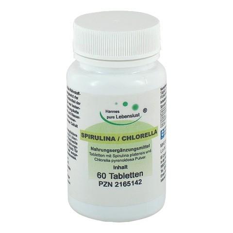 SPIRULINA+CHLORELLA Tabletten 60 Stück