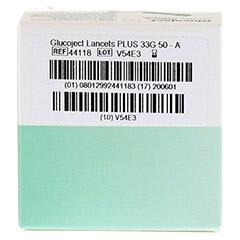 GLUCOJECT Lancets PLUS 33 G 50 Stück - Rückseite
