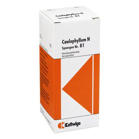 SYNERGON KOMPLEX 81 Caulophyllum N Tropfen 50 Milliliter