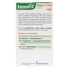 TAXOFIT Zink+C 500+Selen+D3 Tabletten 40 Stück - Rückseite