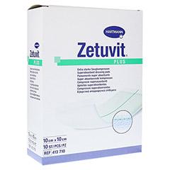 ZETUVIT Plus extrastarke Saugkomp.ster.10x10 cm 10 Stück