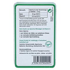 SPIRUSELEN Selen Spirulina Tabletten 100 Stück - Rückseite