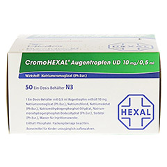CromoHEXAL Augentropfen UD 50 Stück N3 - Oberseite