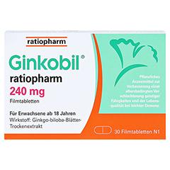 GINKOBIL ratiopharm 240mg 30 Stück N1 - Vorderseite