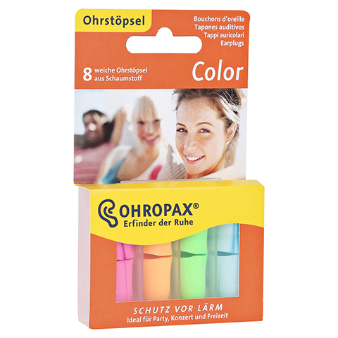 OHROPAX color Schaumstoff St�psel 8 St�ck