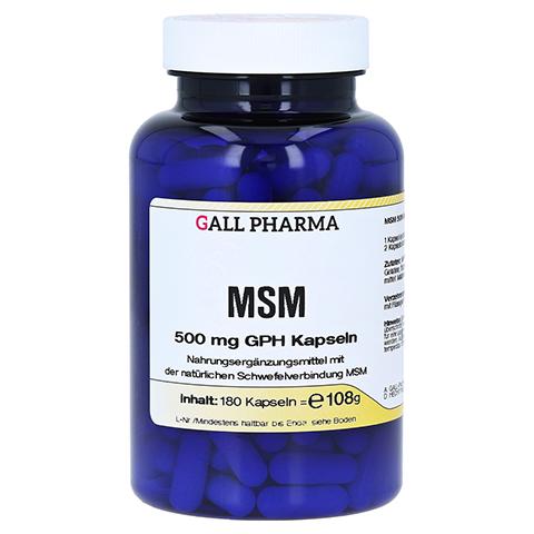 MSM 500 mg GPH Kapseln 180 Stück