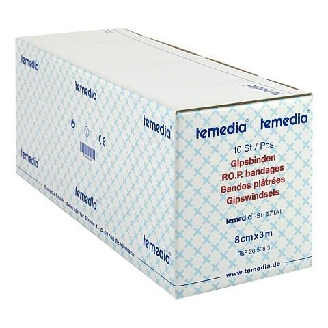 GIPSBINDE Temedia spezial 3 m x 8 cm 10 Stück